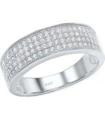 anillo compromiso cinta ancha plata arany joyas