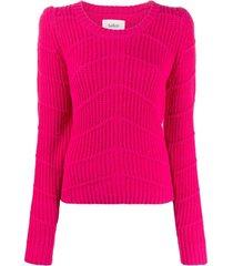 ba&sh suéter canelado estruturado - rosa
