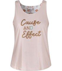 camiseta secado rapido espalda drapeada beige triskel effect