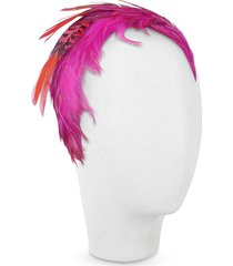 nana' designer women's hats, bettina - fuchsia feather headband