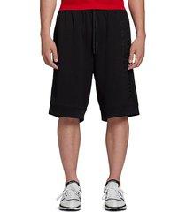 y-3 men's u ch2 gfx mesh shorts - black - size l