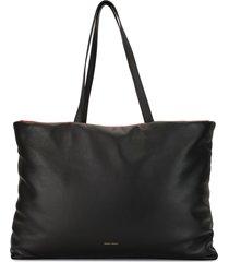 mansur gavriel reversible pillow tote - black