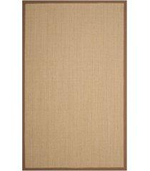 safavieh natural fiber multi and light brown 5' x 8' sisal weave rug