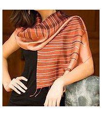 batik scarf, 'ginger embrace' (thailand)