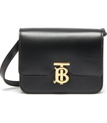 'tb' monogram clasp mini leather crossbody bag