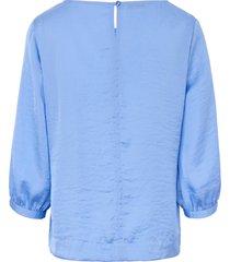 blouse met wijde 3/4-mouwen van peter hahn blauw