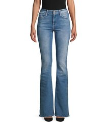 high-rise flared skinny jeans