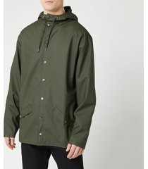 rains men's jacket - green - m/l