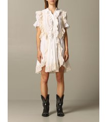 zadig & voltaire dress zadig & voltaire dress with ruffles and embroidery