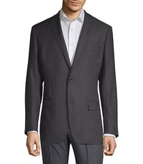 slim-fit wool grid sports jacket
