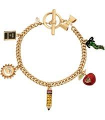 betsey johnson back to school charm bracelet