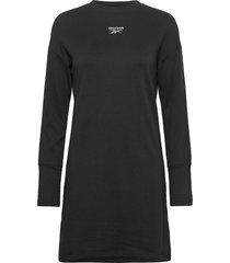cl f sl dress knälång klänning svart reebok classics