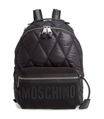 moschino quilted nylon backpack - black