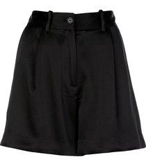 silk tailored shorts