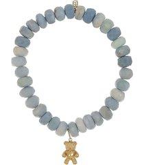 teddy bear blue opal bracelet