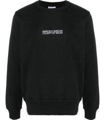 marcelo burlon county of milan multi faces crew-neck sweatshirt -