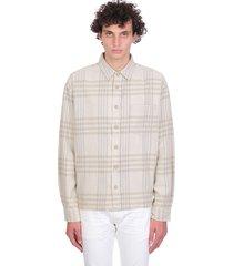 john elliott shirt in beige cotton