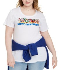 modern lux trendy plus size disney happy everything graphic t-shirt