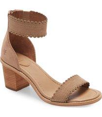 women's frye brielle scallop back zip sandal, size 11 m - pink