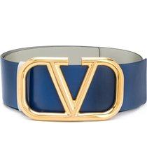 valentino garavani vlogo reversible belt - blue