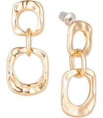 charter club gold-tone chain link drop earrings, created for macy's