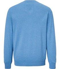 finstickad tröja babista blå