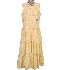 chloe tiered printed dress