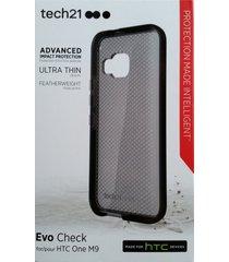 tech21 evo check flexshock thin case - black for htc one m9 / htc one m9s