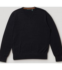 sweater formal liso navy perry ellis