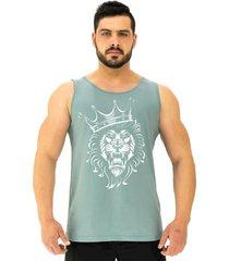 regata clã¡ssica masculina alto conceito lion king verde beb㪠- verde - masculino - algodã£o - dafiti