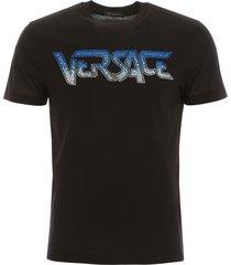 versace crystal logo t-shirt