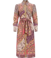 alice+olivia luanne patchwork shirt dress - multicolour