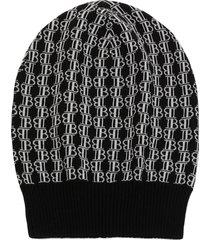 balmain cap with jacquard logo