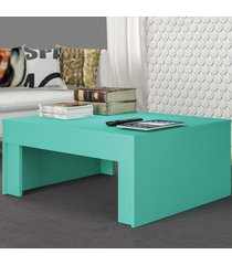 mesa de centro prada turquesa acetinado - atualle móveis