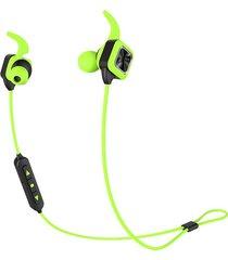 audifonos bluetooth, ks plus auriculares audifonos bluetooth manos libres  inalámbricos deportivos auriculares estéreo bajos con gancho de oreja mic voice prompt manos libres de reducción de ruido sweatproof para teléfono (verde)