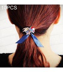 10 pcs lindos colgantes estilo goma elastica banda de pelo anillo color al azar entrega
