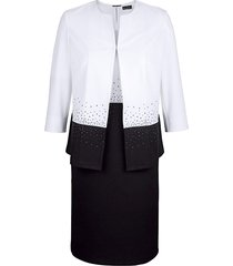 set: blazer en jurk m. collection zwart::wit