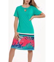 jurk lisca tahiti zomerjurk met korte mouwen