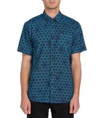 volcom men's sun medallion shirt