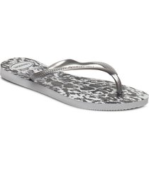 hav slim animals shoes summer shoes flip flops silver havaianas