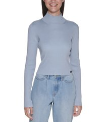 calvin klein jeans ribbed mock-neck sweater