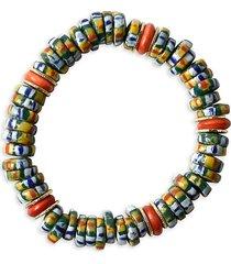 akola women's egypt goldtone beaded stretch bracelet