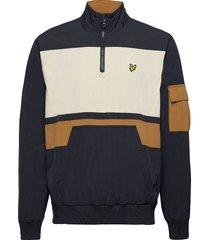 1/4 zip track jacket outerwear jackets anoraks blå lyle & scott