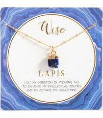 abundant adventure power stone necklace - navy