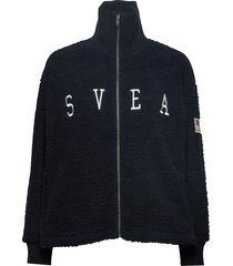 kathryn pile zip sweater sweat-shirt trui zwart svea