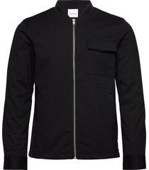superflex knitted overshirt overshirts zwart lindbergh