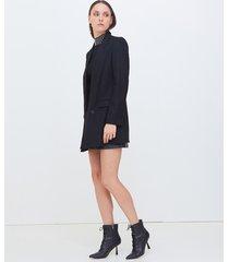 motivi cappotto corto donna nero