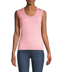 m missoni women's metallic-knit tank top - pink - size 48 (12)