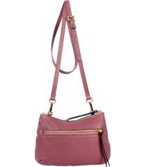 bolsa yasrro de couro aurora rosa antigo