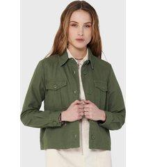 chaqueta  jacqueline de yong verde - calce regular